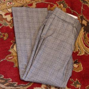 LOFT Gray Plaid Marisa Trouser 4 Petite